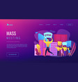 mass meeting concept landing page vector image vector image