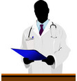 medical doctor with stethoscope vector image vector image