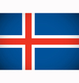 National flag of Iceland vector image vector image