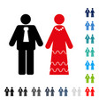 newlyweds icon vector image vector image