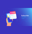 newsletter subcription online in mobile app vector image