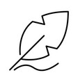 outline feather icon vector image vector image