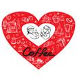 people loves coffee vector image