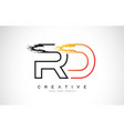 rd creative modern logo design with orange and vector image vector image