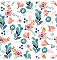 seamless pattern with eucalyptus branches flowers vector image vector image