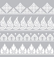 seamless thai retro pattern repetitive vector image vector image
