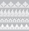 seamless thai retro pattern repetitive vector image