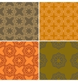 set four ornamental seamless pattern vector image vector image