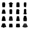 set of black skirts vector image vector image