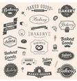 set vintage bakery badges and labels vector image vector image