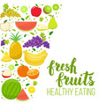 side vertical border with fruits vector image vector image