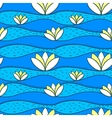simple pattern with water lily vector image vector image