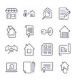 simple set of real estate related line vector image vector image