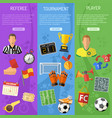 soccer vertical banners vector image vector image