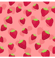 Strawberry Seamless Pattern Pink1 vector image vector image