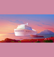 summer luxury vacation on cruise ship at sunset vector image vector image