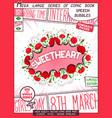 sweetheart - congratulatory poster design vector image vector image