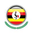 uganda flag button uganda flag icon of uganda vector image vector image