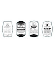 vintage alcohol label minimalistic stickers vector image