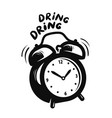 wake up call alarm clock is ringing deadline vector image vector image