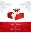 White Christmas card White Christmas tree vector image vector image