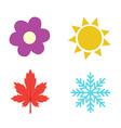 Four seasons icon symbol vector image