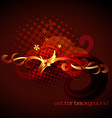 golden floral abstract design vector image