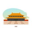 temple-monastery complex in beijing is building vector image