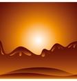 desert landscape background icon vector image