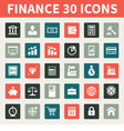 Finance and Business 30 Icons vector image