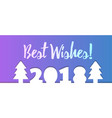 2018 happy new year calendar christmass text for vector image vector image
