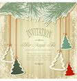 new years holiday background with hanging herringb