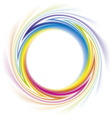 abstract frame spiral curled rainbow spectrum vector image
