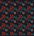 abstract geometric signs seamless pattern vector image vector image