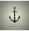anchor with rope icon flat style vector image vector image