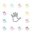 arm flat icons set vector image vector image