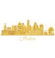 austin texas usa city skyline silhouette with vector image vector image