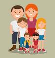 big family icon vector image