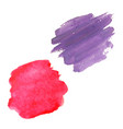 blots color set vector image vector image