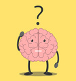 Brain character thinking vector image