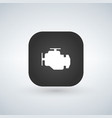 car engine icon isolated on app button trendy vector image vector image
