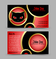Cat head theme business card vector image vector image