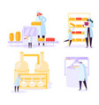 cheese food production industry commercial vector image vector image