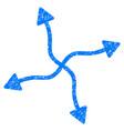 curve arrows grunge icon vector image vector image