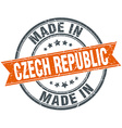Czech Republic orange grunge ribbon stamp on white vector image vector image