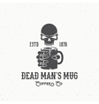 Dead Mans Mug Coffee Company Abstract Vintage vector image vector image