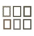 decorative frame elegant element for design vector image vector image