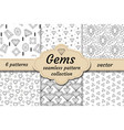 diamond seamless pattern set line sketch doodle vector image vector image