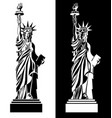 drawing statue liberty usa symbol vector image