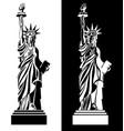 drawing statue of liberty usa symbol vector image vector image